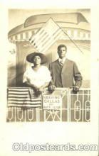 bla000007 - Leaving Dallas on Katy Flyer Black, Blacks, Real Photo Postcard Post Card