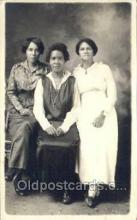 bla000011 - Studio Posed Black, Blacks, Real Photo Postcard Post Card