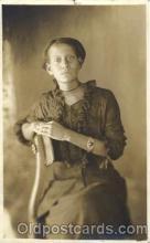 bla000012 - Studio Posed Black, Blacks, Real Photo Postcard Post Card