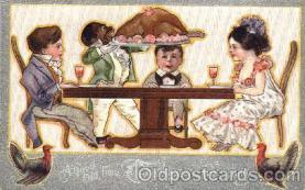bla001107 - Thanksgiving Greeting, Black Blacks Postcard Post Card