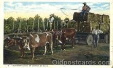 bla001130 - Transportation of Cotton by Road, Black Blacks Postcard Post Card