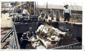 bla001134 - Loading Cotton onto Ships, Black Blacks Postcard Post Card