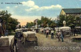 bla001144 - Cotton Ginning Day Black Blacks Postcard Post Card
