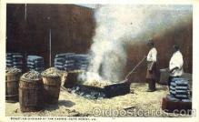 bla001145 - Cape Henry Va. USA Roasting Oysters at the Casino, Black Blacks Postcard Post Card