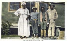 bla001161 - Hot Springs National Park. ARK. USA Hot Springs National Park. ARK. USA Black Blacks Postcard Post Card