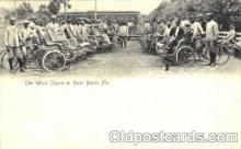 bla001202 - Palm Beach Florida USA Wheel Chairs, Black Blacks Postcard Post Card
