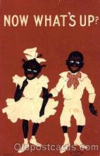 bla001217 - Now Whats Up? Black Blacks Postcard Post Card