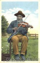 bla001260 - A Happy Fiddler Black Blacks Postcard Post Card