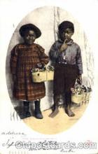 bla001268 - Bashful Billy & Sister Black Blacks Postcard Post Card