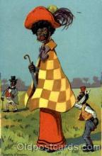 bla001289 - Artist Donadini Jr. Dresden, Black Blacks Postcard Post Card