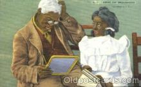 bla001341 - Grand pap embarrassed Black, Blacks Postcard Post Card