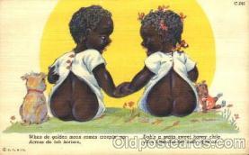 bla001405 - Series C-241 Black, Blacks Postcard Post Card