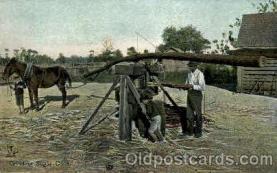 bla001542 - Grinding Sugar Cane Black, Blacks Post Card Post Card