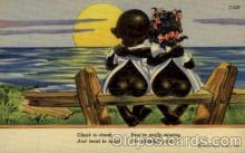 bla001617 - C.T. Chocolate Drop Comics Black, Blacks Postcard Post Card