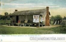 bla001632 - Negro cabin, Chickasaw Battlefield Black, Blacks Postcard Post Card