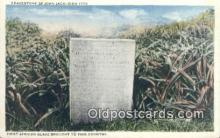 bla050177 - Gravestone of John Jack Died 1773 Old Vintage Antique Postcard Post Card