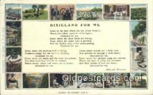 bla050197 - Dixieland For Me Old Vintage Antique Postcard Post Card
