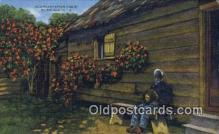 bla050201 - Old Plantation Cabin Old Vintage Antique Postcard Post Card
