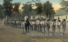 bla100002 - Strips but no stars, Convicts marching to work the good Road Makers in Dixie Land Postcard