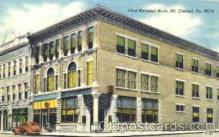 bnk001012 - First National Bank, Mt. Carmel, Pennsylvania, USA Postcard Post Card