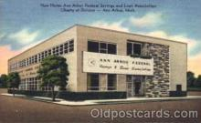 bnk001027 - New Home Ann Anbor Federal Savings & Loan Association, Liberty at Division, Ann Arbor, Michigan, USA Postcard Post Card