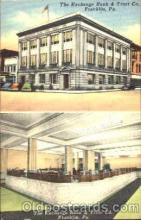 bnk001043 - The Exchange Bank & Trust Co. Franklin, Pennsylvania, USA Postcard Post Card