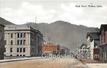 bnk001065 - Bank Street Wallace, Idaho, USA Postcard Post Card