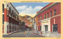 bnk001086 - Main Street, Bank of Bisbee Bisbee, Arizona, USA Postcard Post Card