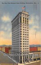 bnk001090 - New First National Bank Building Birmingham, Alabama, USA Postcard Post Card