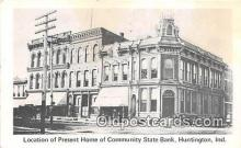 bnk001100 - Community State Bank Huntington, Indiana, USA Postcard Post Card