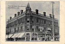 bnk001105 - First National Bank Building Connersville, Indiana, USA Postcard Post Card
