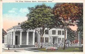 bnk001119 - First National Bank Stonington, Connecticut, USA Postcard Post Card