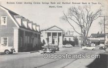 bnk001122 - Groton Savings Bank, Hartford National Bank & Trust CO Mystic, Connecticut, USA Postcard Post Card