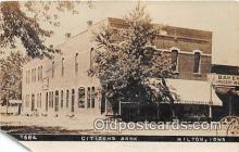 bnk001168 - Real Photo - Citizens Bank Milton, Iowa, USA Postcard Post Card
