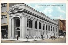 bnk001195 - First National Bank Ottumwa, Iowa, USA Postcard Post Card