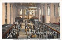 bnk001203 - Main Lobby, Hibernia Bank & Trust Company New Orleans, USA Postcard Post Card