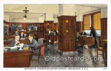 bnk001204 - Main Office, Hibernia Securities Company New Orleans, USA Postcard Post Card