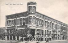 bnk001213 - Peoples Bank Building Pratt, Kansas, USA Postcard Post Card