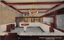 bnk001218 - Interior, Lyon County State Bank Emporia, Kansas, USA Postcard Post Card