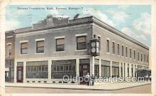 bnk001221 - Parsons Commercial Bank Parsons, Kansas, USA Postcard Post Card