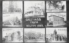 bnk001236 - Union Bank, Farmers Savings Bank Wilton, Iowa, USA Postcard Post Card