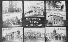 bnk001237 - Union Bank, Farmers Savings Bank Wilton, Iowa, USA Postcard Post Card