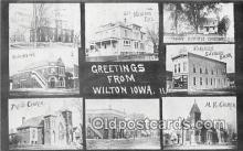 bnk001238 - Union Bank, Farmers Savings Bank Wilton, Iowa, USA Postcard Post Card