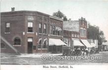 bnk001243 - Main Street Sheffield, Iowa, USA Postcard Post Card