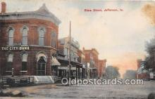 bnk001245 - City Bank, State Street Jefferson, Iowa, USA Postcard Post Card
