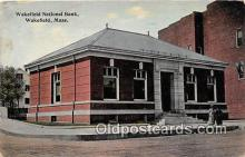 bnk001250 - Wakefield National Bank Wakefield, Mass, USA Postcard Post Card