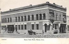 bnk001253 - Barnes Bank Block Marcus, Iowa, USA Postcard Post Card