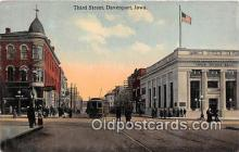 bnk001264 - Third Street Davenport, Iowa, USA Postcard Post Card