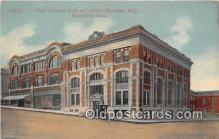 bnk001270 - First National Bank & Stein's Furniture Building Muscatine, Iowa, USA Postcard Post Card