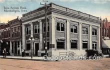 bnk001277 - Iowa Savings Bank Marshalltown, Iowa, USA Postcard Post Card